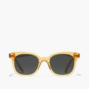 Madewell Square Framed Sunglasses Yellow